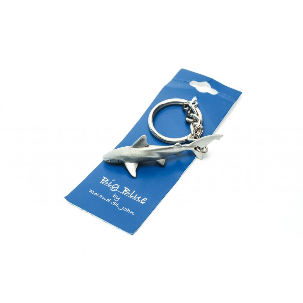 Reef Shark Pewter Key Chain Realistic Life like