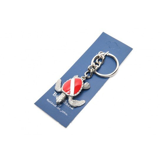 Big Blue 鑰匙圈 - 海龜 (潛水旗)