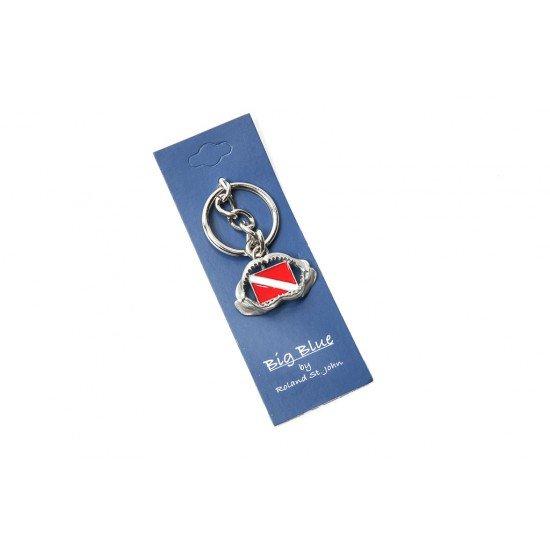 Big Blue 鑰匙圈 - 鯊魚牙齒