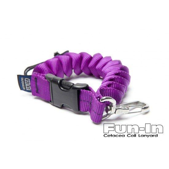 Cetacea 外包帆布伸縮扣環 (紫)