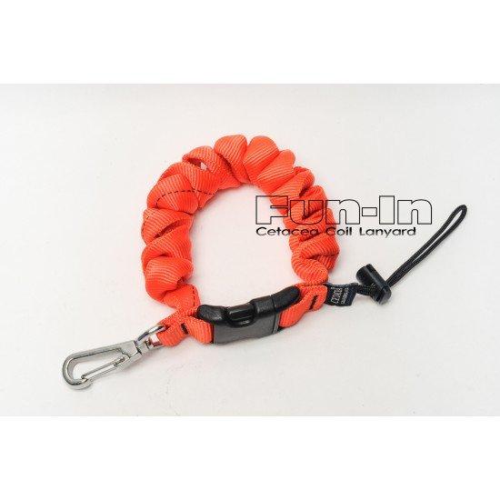 Cetacea 外包帆布伸縮扣環 (橘紅色)