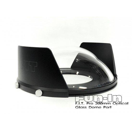 F.I.T. 200mm 光學玻璃 Dome 鏡頭罩 for Nauticam/Sea&Sea/Subal 單眼防水殼 (加送保護套)