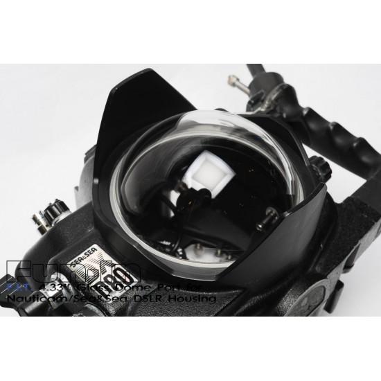 F.I.T. 4.33'' 光學玻璃 Dome 鏡頭罩 for Nauticam/Sea&Sea 單眼防水盒
