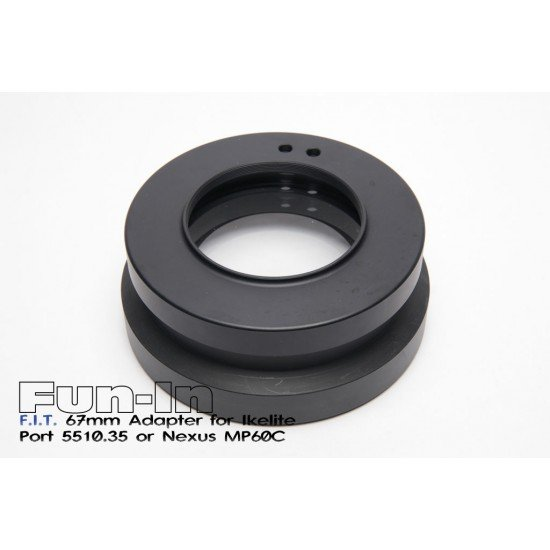 F.I.T. 67mm 轉接環 for Ikelite 5510.35 鏡頭罩或Nexus MP60C (舊款)