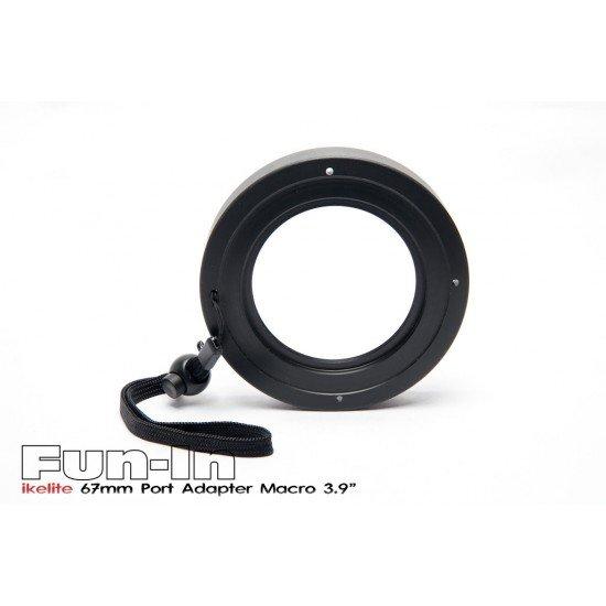 "Ikelite 67mm 鏡頭罩轉接環 for 3.9"" 微距鏡頭罩"