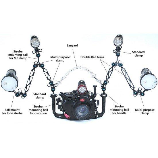 Nauticam 125mm 雙球燈臂