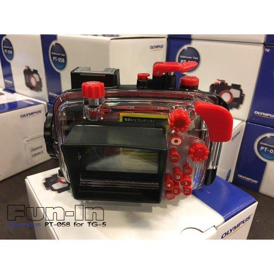 Olympus PT-058 防水盒 for TG-5 (INON S-2000加購特惠價NT10,000)